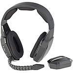 auvisio Kabelloses Gaming-Funk-Headset mit TOSLINK & 12-Stunden-Akku, 2,4 GHz auvisio Kabellose Gaming-Funk-Headsets