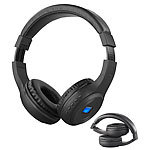 auvisio Faltbares Over-Ear-Headset mit Bluetooth, MP3-Player, FM & LCD-Display auvisio