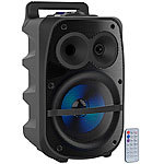 auvisio Mobile PA-Partyanlage, Bluetooth, MP3, USB, SD, Karaoke, UKW, 150 Watt auvisio Mobile Party-Audioanlagen mit Karaoke-Funktionen