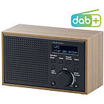 VR-Radio Digitales DAB+/FM-Radio mit Wecker, LCD-Display, Holz-Gehäuse, 4 Watt VR-Radio