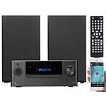 auvisio Mini-HiFi-System mit DVD-/CD-/Media-Player, Bluetooth & FM, 120 Watt auvisio Mini-Stereo-Anlagen mit DVD-/CD-/Media-Player, Bluetooth & Radios