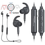 auvisio ANC Stereo-In-Ear-Headset, Bluetooth aptX, Geräusch-Unterdrückung 25dB auvisio In-Ear-Stereo-Headsets mit Bluetooth und Noise Cancelling