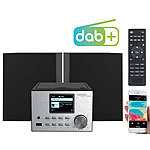 auvisio Micro-Stereoanlage mit Webradio, DAB+, FM, CD, Bluetooth, USB, 60 Watt auvisio DAB-Internetradios mit CD-Player und Bluetooth