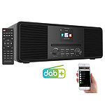 VR-Radio Stereo-Internetradio mit CD-Player, DAB+/FM & Bluetooth, 40 W, schwarz VR-Radio DAB-Stereo-Internetradios mit Bluetooth und CD-Playern