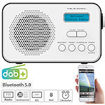 VR-Radio Mobiles Akku-Digitalradio mit DAB+ & FM, Wecker, Bluetooth 5, 8 Watt VR-Radio