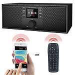 VR-Radio Stereo-WLAN-Internetradio, Farb-Display, 12 W, Bluetooth 5, Fernbed. VR-Radio Stereo-WLAN-Internetradios mit Bluetooth & App