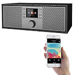 VR-Radio Stereo-WLAN-Internetradio mit Farb-Display, 12 Watt, Bluetooth 5, App VR-Radio Stereo-WLAN-Internetradios mit Bluetooth & App