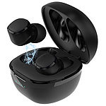 auvisio In-Ear-Stereo-Headset mit Bluetooth 5, Ladebox, bis 18 Std. Spielzeit auvisio Kabelloses In-Ear-Stereo-Headsets mit Bluetooth, Lade-Etui und Sprach-Assistent
