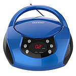auvisio Tragbarer Stereo-CD-Player mit Radio, Audio-Eingang & LED-Display auvisio