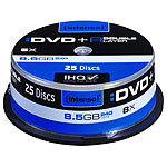 Intenso DVD+R 8,5GB 8x Double Layer, 25er-Spindel Intenso DVD-Rohlinge