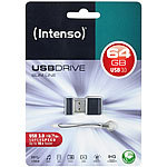 Intenso USB Stick Slim Line 64GB USB 3.0 Superspeed Intenso Mini-USB-3.0-Speichersticks