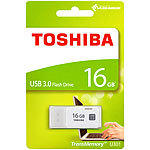 Toshiba USB-3.0-Stick TransMemory U301, 16 GB, Super Speed, weiß Toshiba USB-3.0-Speichersticks