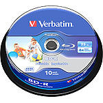 Verbatim 10er-Spindel Blu-ray-Rohlinge 25 GB printable, 6x Speed Verbatim