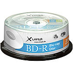 Xlayer Blu-ray-Rohlinge BD-R 25 GB 4x, 25er-Spindel Xlayer Blu-Ray-Rohlinge