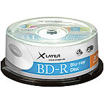Xlayer Blu-ray-Rohlinge BD-R 25 GB 4x, printable, 25er-Spindel Xlayer Blu-Ray-Rohlinge