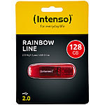 Intenso 128 GB USB-2.0-Speicherstick Rainbow Line, transparent-rot Intenso USB-Speichersticks