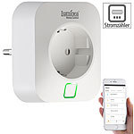 Luminea Home Control WLAN-Steckdose, Energiekostenmesser, App, für Alexa & Google Assistant Luminea Home Control WLAN-Steckdosen mit Stromkosten-Messfunktion