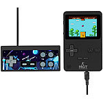 "MGT Mobile Games Technology 2in1-Retro-Spielekonsole, 7-cm-Farbdisplay (2,8""), 200 Spiele, 8 Bit MGT Mobile Games Technology Handheld- & TV Retro-Videospielkonsole"