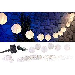 Lunartec Solar Lampion Wetterfest Solar Led Lichterkette M 20 Mini