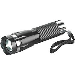 PEARL Focus 3-W-Cree-LED-Taschenlampe LTL-315 IP54 PEARL LED-Taschenlampen