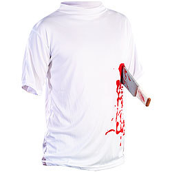 "infactory Halloween T-Shirt ""Machete in der Brust"", Gr. M infactory Halloween T-Shirts"