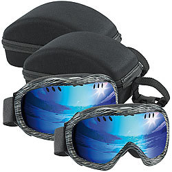 Speeron 2er-Set Superleichte Hightech-Ski- & Snowboardbrillen inkl. Hardcase Speeron Skibrillen