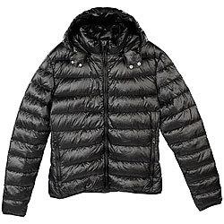 online retailer 64b2d cf334 PEARL outdoor Daunen Steppjacken: Daunenjacke, schwarz ...