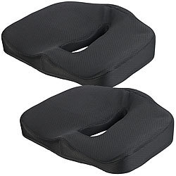 lescars auto sitzauflage 2er set memory foam sitzkissen. Black Bedroom Furniture Sets. Home Design Ideas