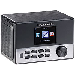 VR-Radio WLAN-Stereo-Internetradio, DAB+, Wecker, USB, 20 W, 8,1-cm-Display VR-Radio Internetradio-Wecker mit DAB+ und USB-Ladestation
