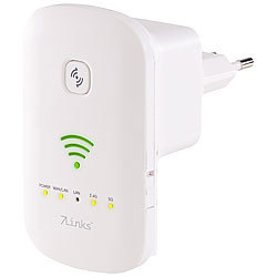 7links Dualband-WLAN-Repeater, Access Point & Router, 1.200 Mbit/s, WPS-Taste 7links Dualband-WLAN-Repeater