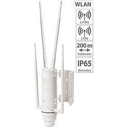 7links Wetterfester Outdoor-WLAN-Repeater mit 1.200 Mbit/s, für 2,4 & 5 GHz 7links Outdoor-WLAN-Repeater