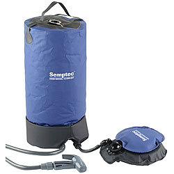 Semptec Urban Survival Technology Tragbare Druck-Campingdusche mit Fußpumpe, 11 Liter Semptec Urban Survival Technology