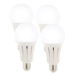 Luminea High-Power-LED-Lampe E27, 24 Watt, 2.452 Lumen,  6.500 K, 4er-Set Luminea LED-Tropfen E27 (tageslichtweiß)