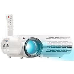 SceneLights Full-HD LED-LCD-Beamer mit Media-Player, 1920 x 1080 Pixel, 3.000 lm SceneLights LED-Heim-Beamer