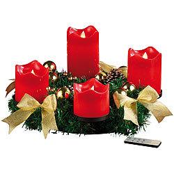 britesta adventskranz modern adventskranz mit goldfarbenem schmuck 30 cm weihnachtsdeko kranz. Black Bedroom Furniture Sets. Home Design Ideas