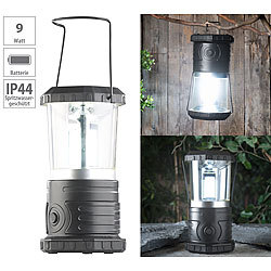Lunartec Dimmbare Camping-Laterne mit COB-LEDs, 750 Lumen, 9 Watt, IP44 Lunartec Camping-Laternen batteriebetrieben
