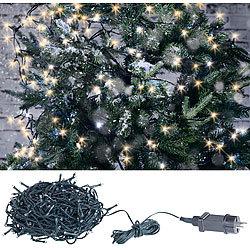 Weihnachtsbeleuchtung Aussen Motive.Lunartec Weihnachtskerzen Led Lichterkette Mit 160 Leds Für Innen