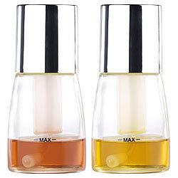 2 Tlg Ölsprüher Essigsprüher Glas Essig /& Öl Zerstäuber Ölspender Sprühflasche