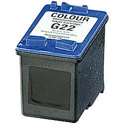 Recycled Cartridge für HP (ersetzt C9352AE No.22), color HC 18ml recycled / rebuilt by iColor Recycled-Druckerpatrone für HP-Tintenstrahldrucker