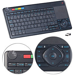 GeneralKeys Lernfähige Multimedia-Funk-Tastatur & Fernbedienung für PC, Smart-TV GeneralKeys Multimedia-Funk-Tastatur für PC, Set-Top-Box & Smart-TV