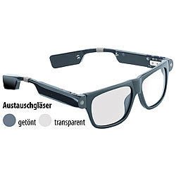 simvalley MOBILE Smart Glasses SG-100.bt mit Bluetooth und 720p HD simvalley MOBILE Brillenkameras