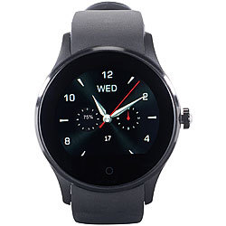 simvalley MOBILE Handy-Uhr & Smartwatch für iOS & Android, mit Bluetooth & Herzfrequenz simvalley MOBILE Handy-Smartwatches mit Bluetooth & Herzfrequenz-Messung, für Android und iOS
