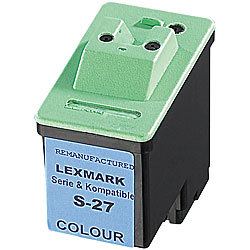 Recycled Cartridge für Lexmark (ersetzt 10NX227E No.27), color recycled / rebuilt by iColor
