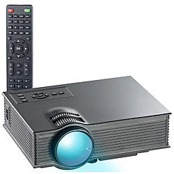 SceneLights SVGA-LCD-LED-Beamer LB-8300.mp mit Mediaplayer, 800 x 480 Pixel SceneLights Kompakt LED Beamer