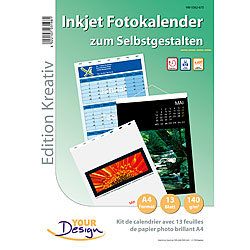 Your Design Fotokalender-Set A4 hoch (140g/m²) Your Design Fotokalender Druck-Sets