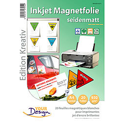Your Design 20 Inkjet-Magnetfolien A4 matt/weiß Your Design Magnet Druck-Folien