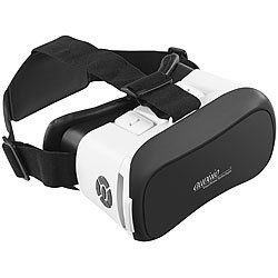 auvisio Virtual-Reality-Brille mit Bluetooth, Magnetschalter und 42-mm-Linsen auvisio Virtual-Reality-Brillen für Smartphones