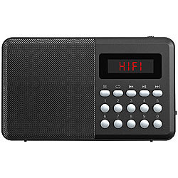 auvisio FM-Taschenradio, Bluetooth, MP3-Player, Display, USB, microSD & Akku auvisio FM-Taschenradios mit MP3-Player