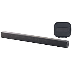 auvisio Stereo-Soundbar mit Bluetooth, AUX-In und USB-Audioplayer, 100 Watt auvisio Soundbars mit Bluetooth und USB-Audioplayer