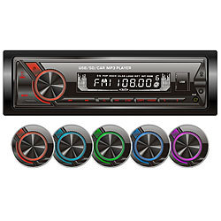Creasono MP3-Autoradio mit Bluetooth & Freisprechfunktion, RDS, USB, SD, 4x45 W Creasono Bluetooth-Autoradios (1-DIN)